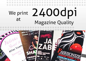 We print at 2400dpi Magazine Quality