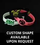 custom shape silicone wristbands