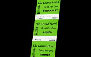 Food & Beverage Ticket – Three-part – Light Green