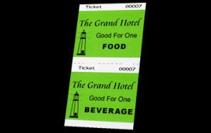Food & Beverage Ticket – Two-part