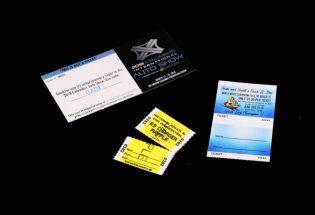raffle tickets set of 3