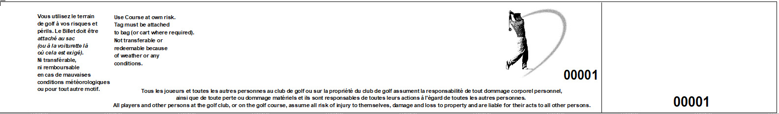 golf bag tag disclaimer fr