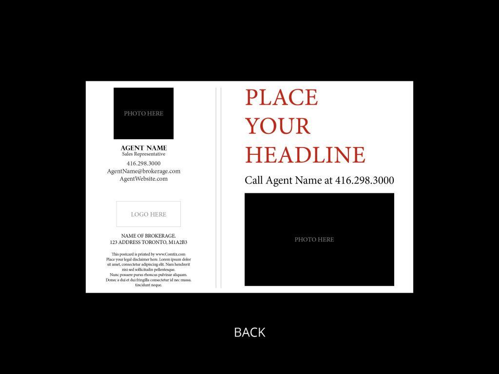 just sold card template 1 - back