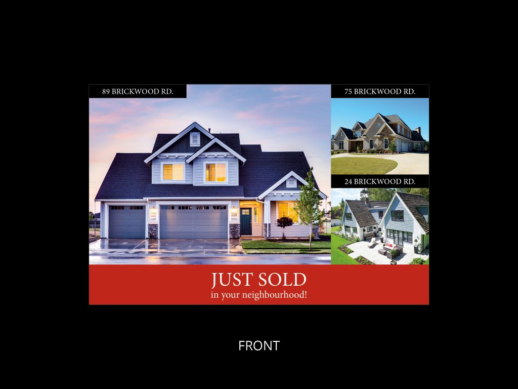 just sold card template 1 - front
