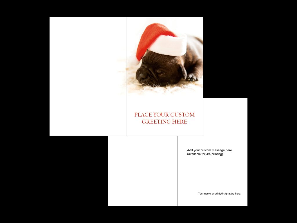 christmas card portrait template 2