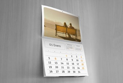 wall calendar sample
