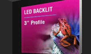 backlit fabric led lightbox with 3 inch profile